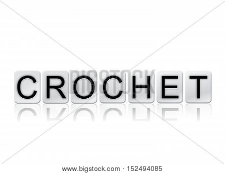 Crochet Isolated Tiled Letters Concept And Theme
