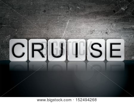 Cruise Tiled Letters Concept And Theme