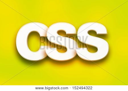 Css Concept Colorful Word Art