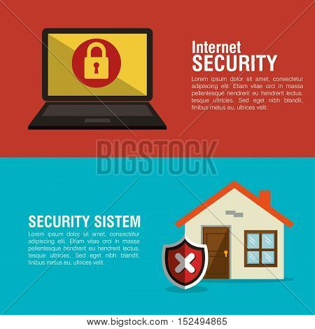 internet home smart security system vector illustration eps 10