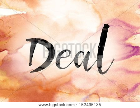 Deal Colorful Watercolor And Ink Word Art