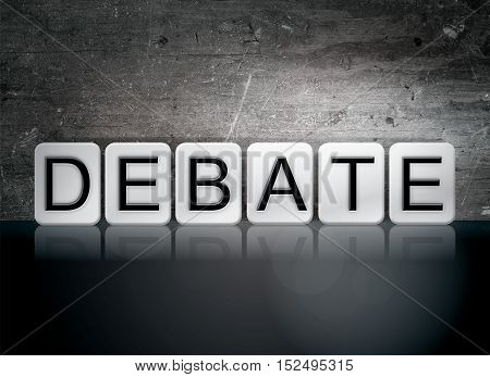 Debate Tiled Letters Concept And Theme
