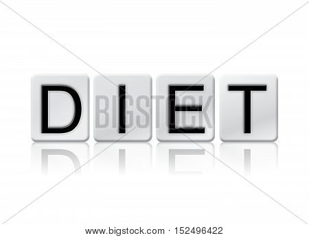 Diet Isolated Tiled Letters Concept And Theme