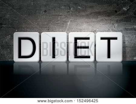 Diet Tiled Letters Concept And Theme