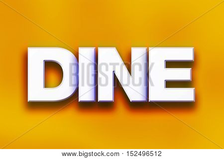 Dine Concept Colorful Word Art