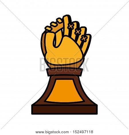 baseball trophy championship isolated icon vector illustration design