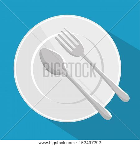 plate spoon and fork design vector illustration eps 10