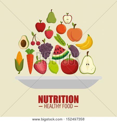 nutrition healthy food symbol vector illustration eps 10