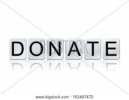 Donate Isolated Tiled Letters Concept And Theme