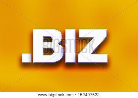 Dot Biz Concept Colorful Word Art