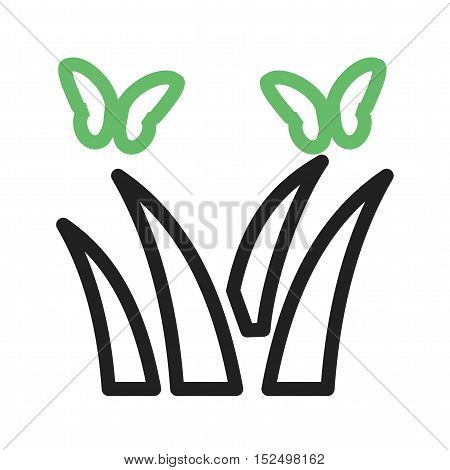 Butterfly, flower, beautiful icon vector image. Can also be used for spring. Suitable for mobile apps, web apps and print media.