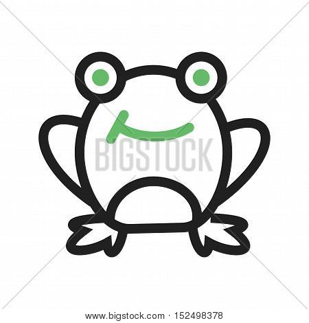 Frog, pond, water icon vector image. Can also be used for spring. Suitable for mobile apps, web apps and print media.