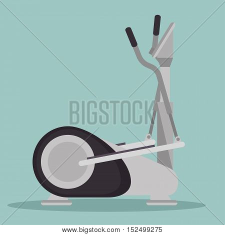 elliptical machine gym icon vector illustration eps 10