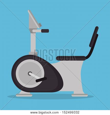 static bike gym fitness icon vector illustration eps 10