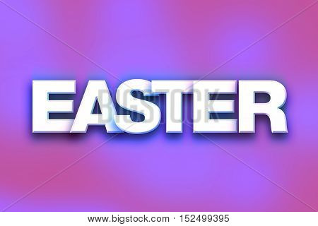 Easter Concept Colorful Word Art