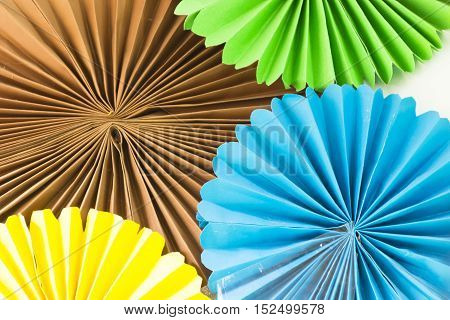 Art of colored paper.Or Origami and idea of art and crafts.