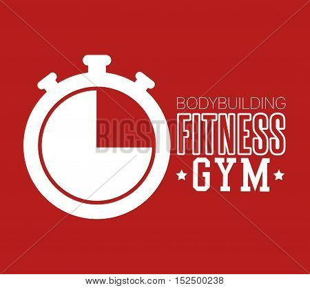 bodybuilding fitness gym chronometer icon design vector illustration eps 10
