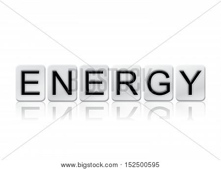 Energy Isolated Tiled Letters Concept And Theme