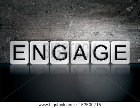 Engage Tiled Letters Concept And Theme