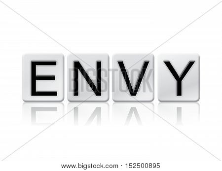 Envy Isolated Tiled Letters Concept And Theme