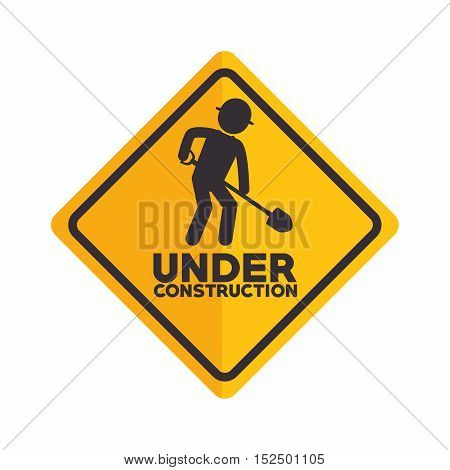 icon under construction worker vector illustration eps 10