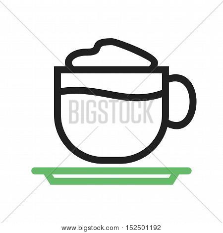 Latte, coffee, cup icon vector image. Can also be used for coffee shop. Suitable for web apps, mobile apps and print media.