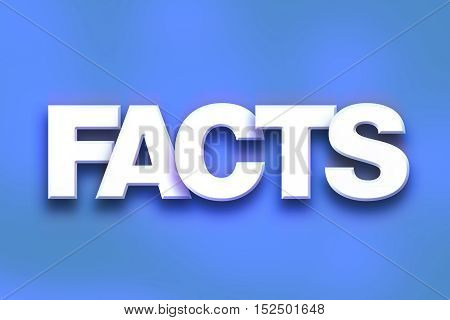Facts Concept Colorful Word Art