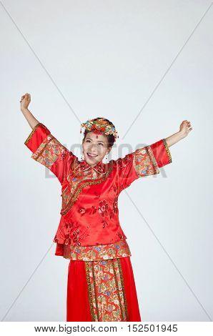 Very Happy Chinese Bride