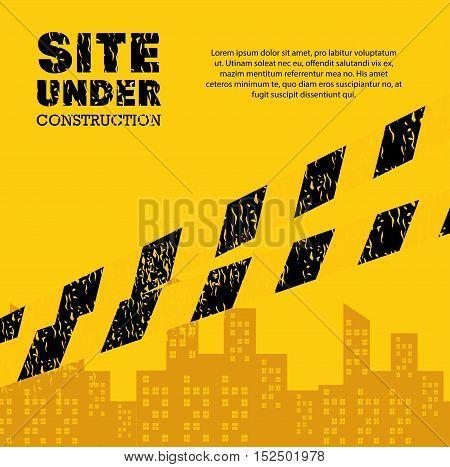 site under construction industrail sign vector illustration eps 10
