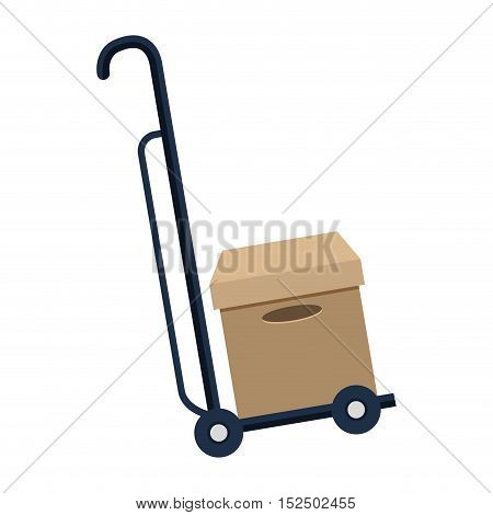 cart delivery service icon vector illustration design