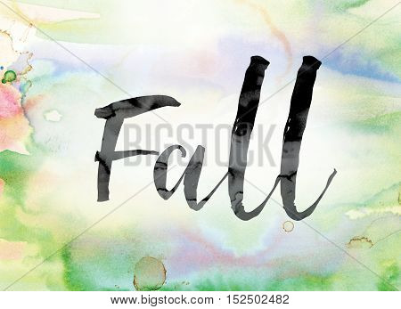 Fall Colorful Watercolor And Ink Word Art