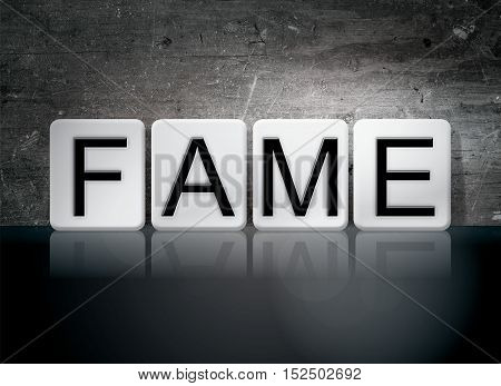 Fame Tiled Letters Concept And Theme