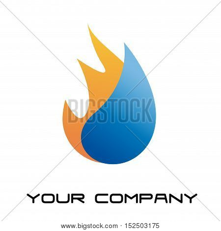 Vector sign home energy, illustration isolated in white