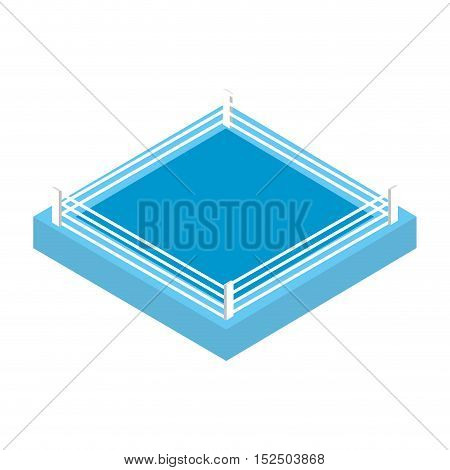 boxing ring isolated icon vector illustration design