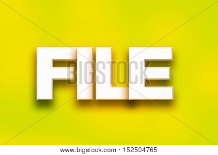 File Concept Colorful Word Art