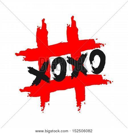 Inscription Hoho. Background sign hashtag. Grunge. Isolated.