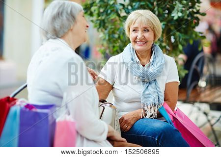 Conversation of mature shoppers