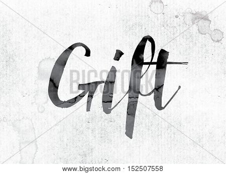 Gift Concept Painted In Ink