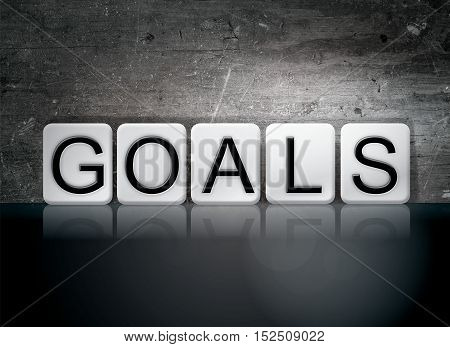 Goals Tiled Letters Concept And Theme