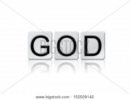 God Isolated Tiled Letters Concept And Theme