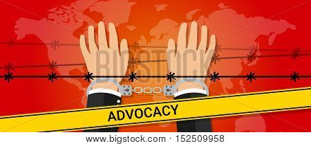 advocacy helping hand people under pressure vector