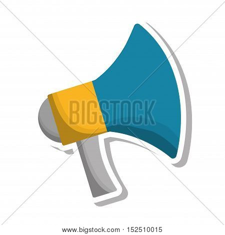megaphone communication isolated icon vector illustration design