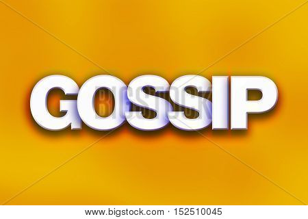 Gossip Concept Colorful Word Art