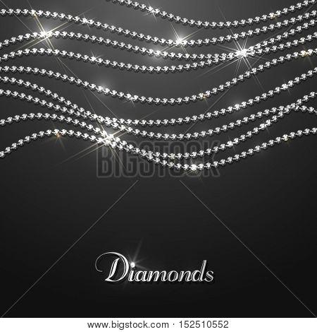 Diamond sparkling beads - eps10 background