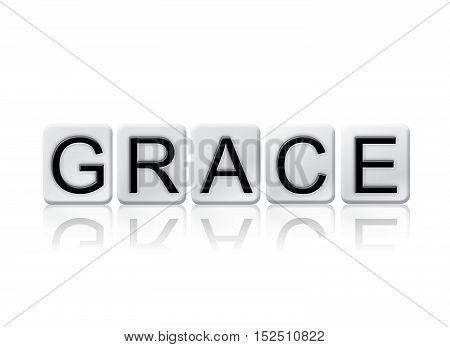 Grace Isolated Tiled Letters Concept And Theme