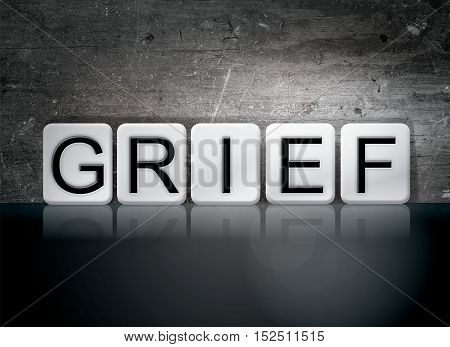 Grief Tiled Letters Concept And Theme