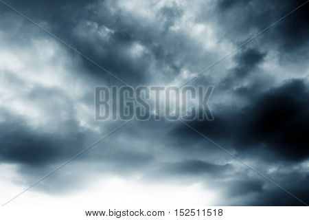 Background of dark clouds before a thunder-storm
