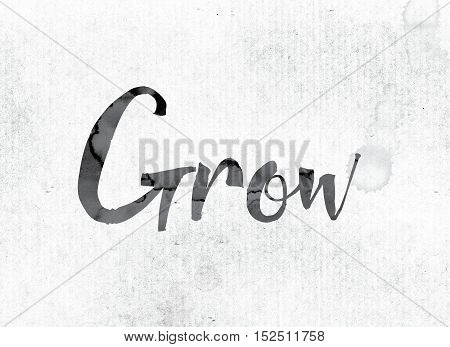 Grow Concept Painted In Ink