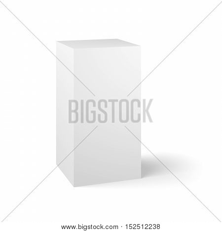 White 3d box. Blank 3d box over white background