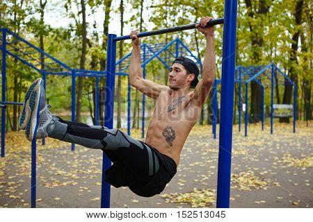 Doing pull-ups